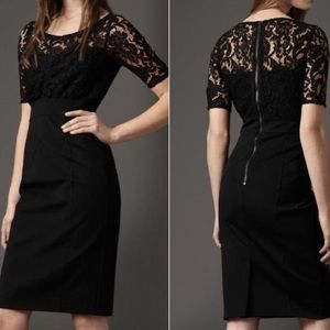 Burberry Black Jersey Skirt In Night Out Dress